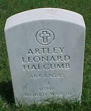 HALCUMB (VETERAN WWII), ARTLEY LEONARD - Pulaski County, Arkansas | ARTLEY LEONARD HALCUMB (VETERAN WWII) - Arkansas Gravestone Photos
