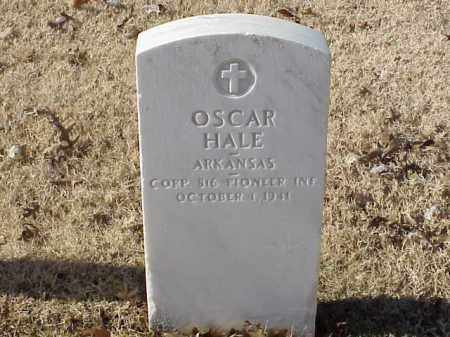 HALE  (VETERAN WWI), OSCAR - Pulaski County, Arkansas | OSCAR HALE  (VETERAN WWI) - Arkansas Gravestone Photos