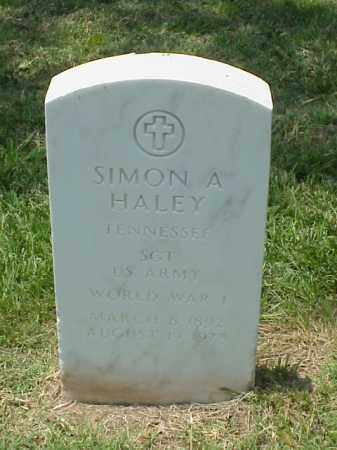HALEY (VETERAN WWI), SIMON A - Pulaski County, Arkansas | SIMON A HALEY (VETERAN WWI) - Arkansas Gravestone Photos