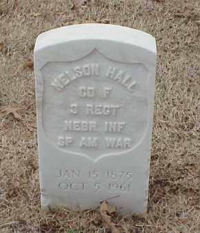 HALL  (VETERAN SAW), NELSON - Pulaski County, Arkansas | NELSON HALL  (VETERAN SAW) - Arkansas Gravestone Photos