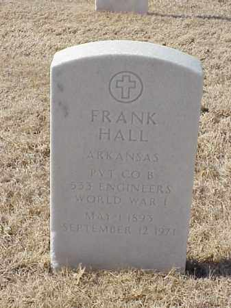HALL  (VETERAN WWI), FRANK - Pulaski County, Arkansas | FRANK HALL  (VETERAN WWI) - Arkansas Gravestone Photos
