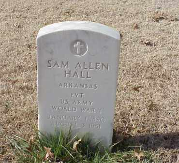 HALL  (VETERAN WWI), SAM ALLEN - Pulaski County, Arkansas | SAM ALLEN HALL  (VETERAN WWI) - Arkansas Gravestone Photos