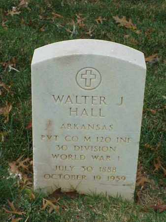 HALL  (VETERAN WWI), WALTER J - Pulaski County, Arkansas | WALTER J HALL  (VETERAN WWI) - Arkansas Gravestone Photos