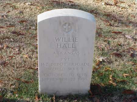 HALL  (VETERAN WWI), WILLIE - Pulaski County, Arkansas | WILLIE HALL  (VETERAN WWI) - Arkansas Gravestone Photos