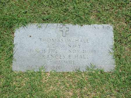 HALL (VETERAN WWII), THOMAS W - Pulaski County, Arkansas | THOMAS W HALL (VETERAN WWII) - Arkansas Gravestone Photos