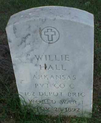 HALL (VETERAN WWI), WILLIE - Pulaski County, Arkansas | WILLIE HALL (VETERAN WWI) - Arkansas Gravestone Photos
