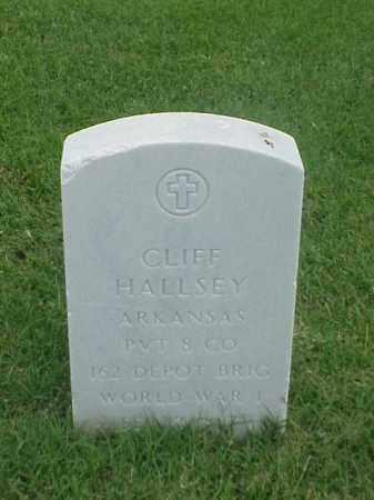HALLSEY (VETERAN WWI), CLIFF - Pulaski County, Arkansas | CLIFF HALLSEY (VETERAN WWI) - Arkansas Gravestone Photos