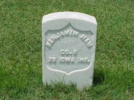HAM (VETERAN UNION), BENJAMIN - Pulaski County, Arkansas | BENJAMIN HAM (VETERAN UNION) - Arkansas Gravestone Photos