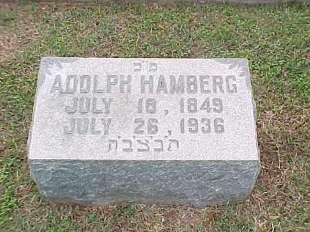 HAMBERG, ADOLH - Pulaski County, Arkansas | ADOLH HAMBERG - Arkansas Gravestone Photos
