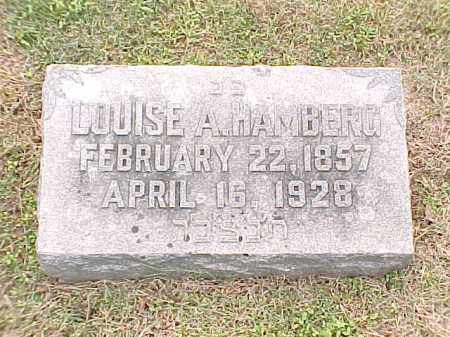 HAMBERG, LOUISE A - Pulaski County, Arkansas | LOUISE A HAMBERG - Arkansas Gravestone Photos
