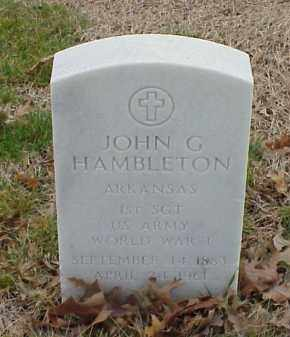HAMBLETON  (VETERAN WWI), JOHN G - Pulaski County, Arkansas | JOHN G HAMBLETON  (VETERAN WWI) - Arkansas Gravestone Photos