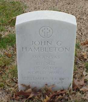 HAMBLETON  (VETERAN WWI), JOHN G - Pulaski County, Arkansas | JOHN G HAMBLETON  (VETERAN WWI) - Arkansas Gravestone Photos
