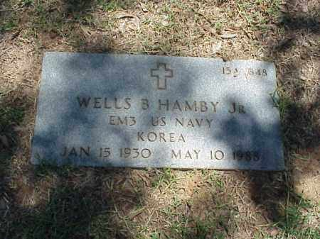 HAMBY, JR (VETERAN KOR), WELLS B - Pulaski County, Arkansas | WELLS B HAMBY, JR (VETERAN KOR) - Arkansas Gravestone Photos