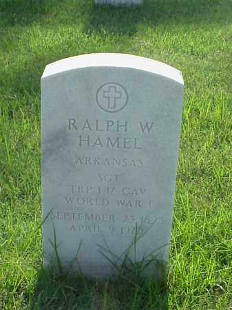 HAMEL (VETERAN WWI), RALPH W - Pulaski County, Arkansas | RALPH W HAMEL (VETERAN WWI) - Arkansas Gravestone Photos