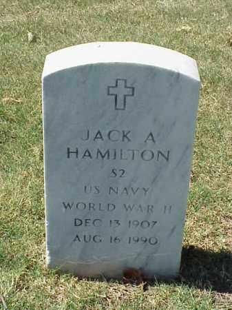 HAMILTON  (VETERAN WWII), JACK A - Pulaski County, Arkansas | JACK A HAMILTON  (VETERAN WWII) - Arkansas Gravestone Photos