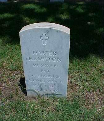 HAMILTON (VETERAN WWII), PORTER - Pulaski County, Arkansas | PORTER HAMILTON (VETERAN WWII) - Arkansas Gravestone Photos