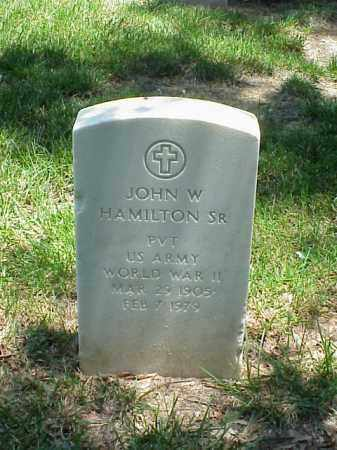 HAMILTON, SR (VETERAN WWII), JOHN W - Pulaski County, Arkansas | JOHN W HAMILTON, SR (VETERAN WWII) - Arkansas Gravestone Photos