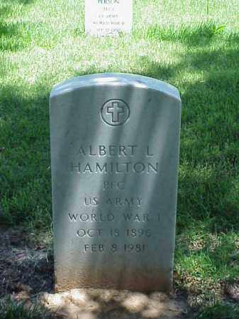 HAMILTON (VETERAN WWI), ALBERT L - Pulaski County, Arkansas | ALBERT L HAMILTON (VETERAN WWI) - Arkansas Gravestone Photos