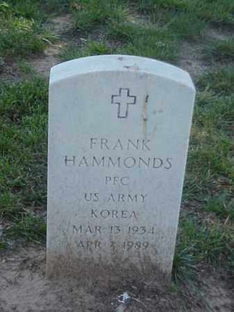 HAMMONDS (VETERAN KOR), FRANK - Pulaski County, Arkansas | FRANK HAMMONDS (VETERAN KOR) - Arkansas Gravestone Photos