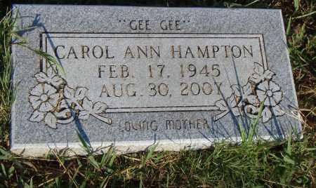 HAMPTON, CAROL ANN - Pulaski County, Arkansas | CAROL ANN HAMPTON - Arkansas Gravestone Photos