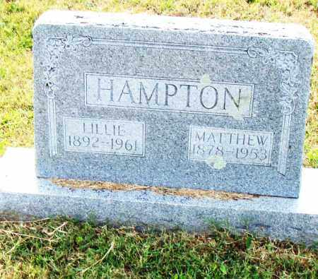 HAMPTON, MATTHEW - Pulaski County, Arkansas | MATTHEW HAMPTON - Arkansas Gravestone Photos