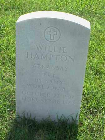 HAMPTON (VETERAN WWI), WILLIE - Pulaski County, Arkansas | WILLIE HAMPTON (VETERAN WWI) - Arkansas Gravestone Photos