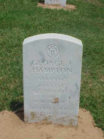 HAMPTON (VETERAN WWI), GEORGE E - Pulaski County, Arkansas | GEORGE E HAMPTON (VETERAN WWI) - Arkansas Gravestone Photos