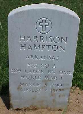 HAMPTON (VETERAN WWI), HARRISON - Pulaski County, Arkansas | HARRISON HAMPTON (VETERAN WWI) - Arkansas Gravestone Photos