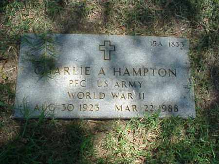 HAMPTON (VETERAN WWII), CHARLIE A - Pulaski County, Arkansas | CHARLIE A HAMPTON (VETERAN WWII) - Arkansas Gravestone Photos