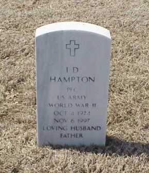 HAMPTON (VETERAN WWII), I D - Pulaski County, Arkansas | I D HAMPTON (VETERAN WWII) - Arkansas Gravestone Photos