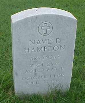 HAMPTON (VETERAN WWII), NAVE D - Pulaski County, Arkansas | NAVE D HAMPTON (VETERAN WWII) - Arkansas Gravestone Photos