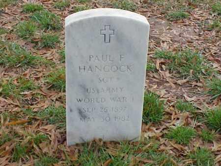 HANCOCK  (VETERAN WWI), PAUL F - Pulaski County, Arkansas | PAUL F HANCOCK  (VETERAN WWI) - Arkansas Gravestone Photos
