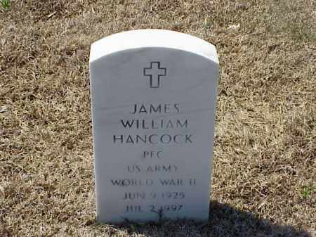 HANCOCK (VETERAN WWII), JAMES WILLIAM - Pulaski County, Arkansas | JAMES WILLIAM HANCOCK (VETERAN WWII) - Arkansas Gravestone Photos