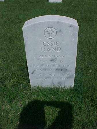 HAND (VETERAN WWI), ESSIE - Pulaski County, Arkansas | ESSIE HAND (VETERAN WWI) - Arkansas Gravestone Photos