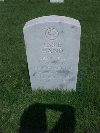 HAND (VETERAN WWI), ESSIE - Pulaski County, Arkansas   ESSIE HAND (VETERAN WWI) - Arkansas Gravestone Photos