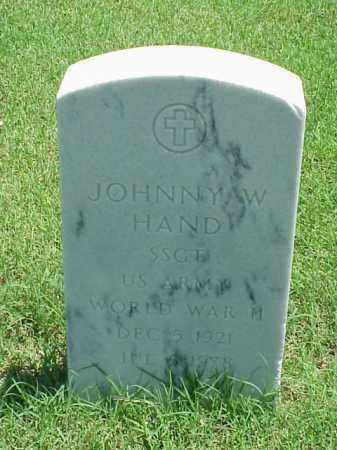 HAND (VETERAN WWII), JOHNNY W - Pulaski County, Arkansas | JOHNNY W HAND (VETERAN WWII) - Arkansas Gravestone Photos