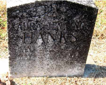 JENNINGS HANKS, LAURA - Pulaski County, Arkansas | LAURA JENNINGS HANKS - Arkansas Gravestone Photos
