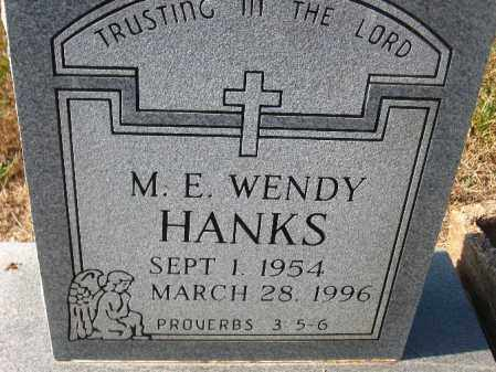 HANKS, M.E. WENDY - Pulaski County, Arkansas | M.E. WENDY HANKS - Arkansas Gravestone Photos