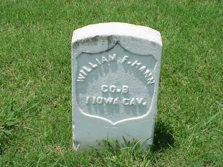 HANN (VETERAN UNION), WILLIAM F - Pulaski County, Arkansas | WILLIAM F HANN (VETERAN UNION) - Arkansas Gravestone Photos