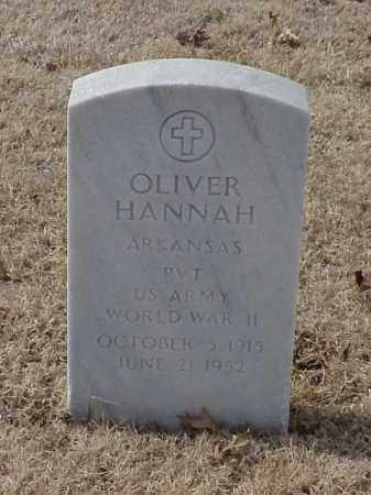 HANNAH  (VETERAN WWII), OLIVER - Pulaski County, Arkansas | OLIVER HANNAH  (VETERAN WWII) - Arkansas Gravestone Photos