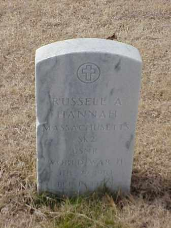 HANNAH  (VETERAN WWII), RUSSELL A - Pulaski County, Arkansas | RUSSELL A HANNAH  (VETERAN WWII) - Arkansas Gravestone Photos