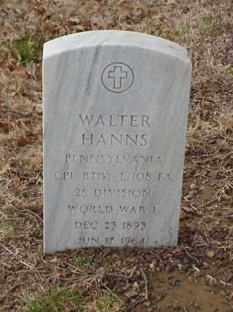 HANNS  (VETERAN WWI), WALTER - Pulaski County, Arkansas | WALTER HANNS  (VETERAN WWI) - Arkansas Gravestone Photos