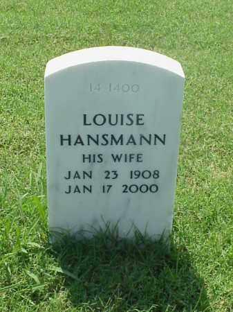HANSMANN, LOUISE - Pulaski County, Arkansas | LOUISE HANSMANN - Arkansas Gravestone Photos