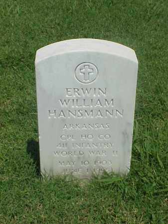 HANSMANN (VETERAN WWII), ERWIN WILLIAM - Pulaski County, Arkansas | ERWIN WILLIAM HANSMANN (VETERAN WWII) - Arkansas Gravestone Photos