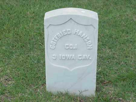 HANSON (VETERAN UNION), GOTFRIED - Pulaski County, Arkansas | GOTFRIED HANSON (VETERAN UNION) - Arkansas Gravestone Photos