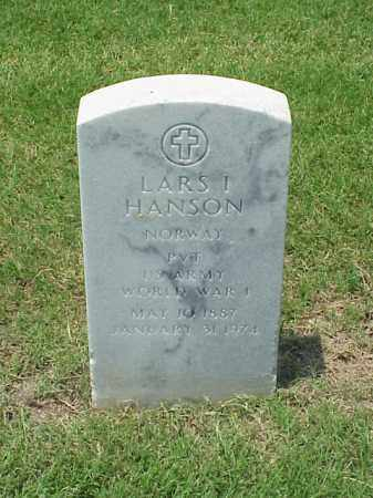HANSON (VETERAN WWI), LARS I - Pulaski County, Arkansas | LARS I HANSON (VETERAN WWI) - Arkansas Gravestone Photos