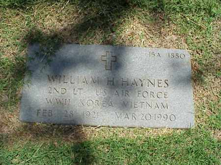 HAYNES (VETERAN 3 WARS), WILLIAM H - Pulaski County, Arkansas | WILLIAM H HAYNES (VETERAN 3 WARS) - Arkansas Gravestone Photos