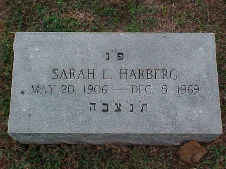 HARBERG, SARAH L - Pulaski County, Arkansas | SARAH L HARBERG - Arkansas Gravestone Photos