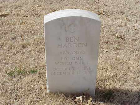 HARDEN  (VETERAN WWI), BEN - Pulaski County, Arkansas | BEN HARDEN  (VETERAN WWI) - Arkansas Gravestone Photos