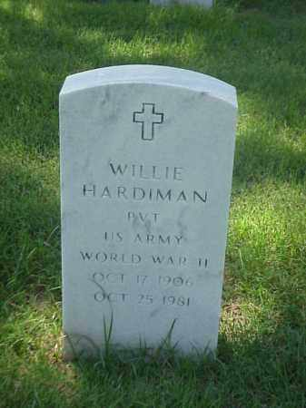 HARDIMAN (VETERAN WII), WILLIE - Pulaski County, Arkansas | WILLIE HARDIMAN (VETERAN WII) - Arkansas Gravestone Photos